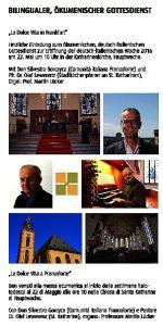 Gottesdienst zur deutsch-italienischen Woche