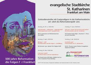 Gottesdienstreihe mit Gastpredigern anlässlich des Reformationsjubiläums
