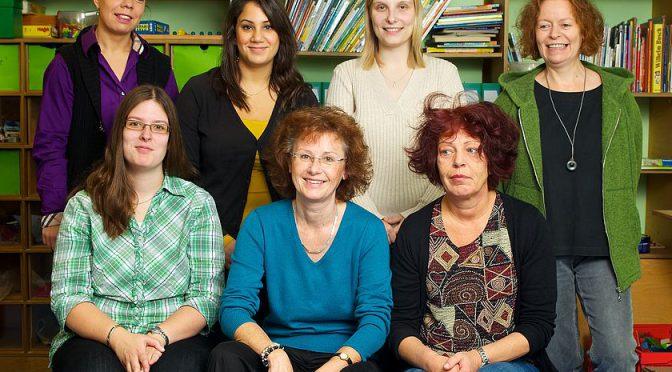 Mitarbeiterinnen Kindergarten Leerbachstraße