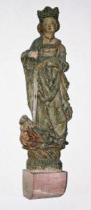 Spätgotische Katharinenfigur